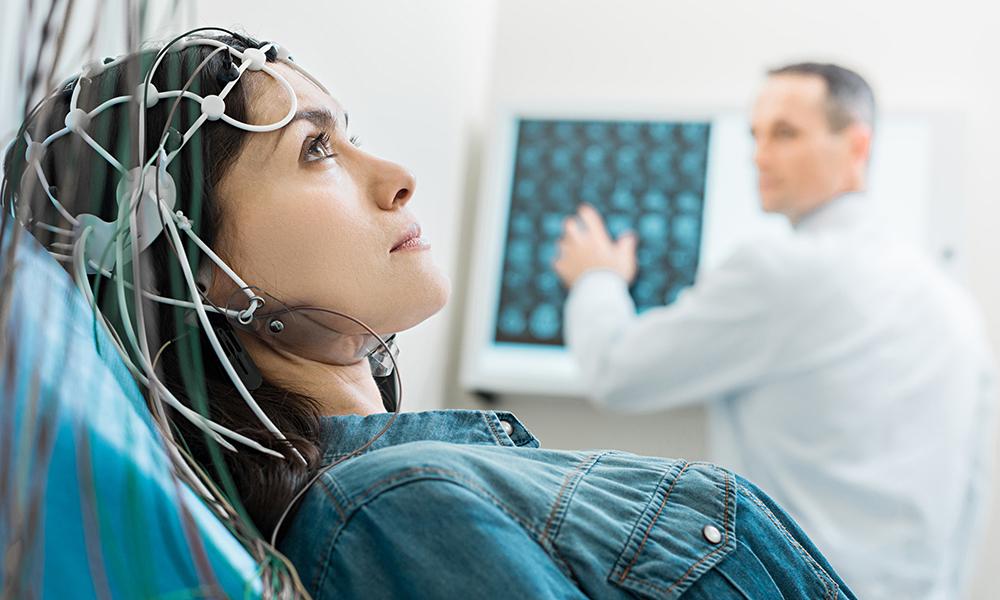 Diagnose mittels Elektroenzephalographie