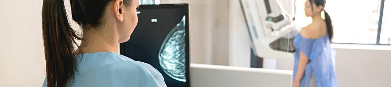 Mammographie-Untersuchung zur Diagnose Brust