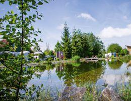 Naturbadesee auf dem Campingplatz Max 1